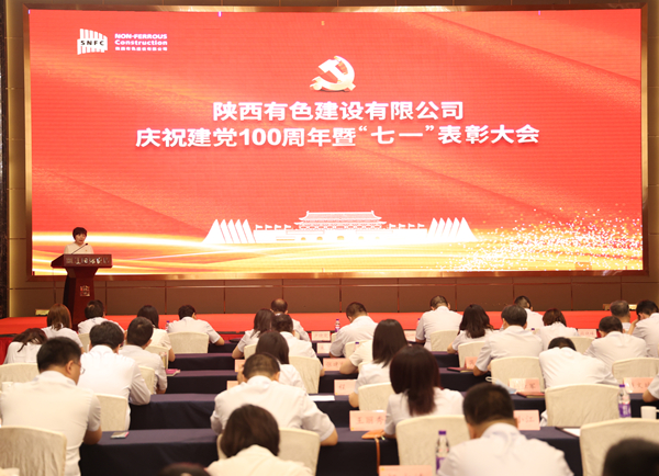 """公司召开庆祝建党100周年暨""""七一""""表彰大会"""
